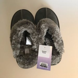 Comfy furry slippers